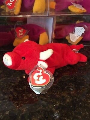 Authentic MWMT-MQ *Rare* TABASCO the Red Bull 3rd/2nd Generation Ty Beanie Baby!