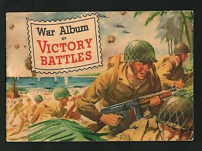 WWII Poster Stamp Album Victory Pacific Theater Battles 1945, by General Mills