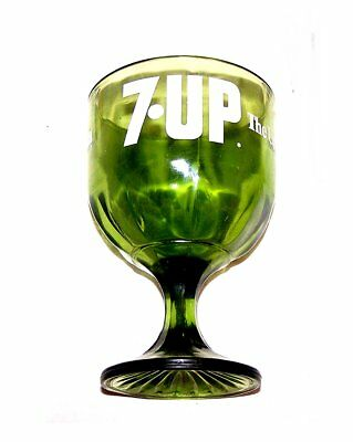 Vintage 70s 7up Seven Up Soda Pop Green Art Glass Ex Can Sign Flat Coke Beer Ofr