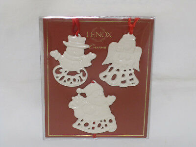Lenox Christmas Snowman Santa Angel Gift Charm Ornament Fine Ivory China