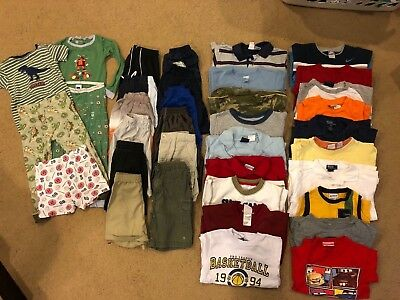 LOT OF 45+ pieces OF BOYS 4T SUMMER/FALL CLOTHES