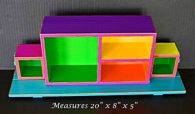 Figurines Shelves, Day Of The Dead, Wooden Hand Painted Shelves, Shelving, Boxes