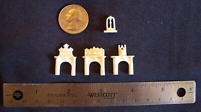 Kummerow Micro Scale – 1/144th Mini Manor Victorian / Edwardian Style Fireplaces