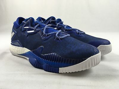 b160083994263 ADIDAS CRAZYLIGHT BOOST 2.5 Low Lace Up Blue Silver Basketball Shoes ...
