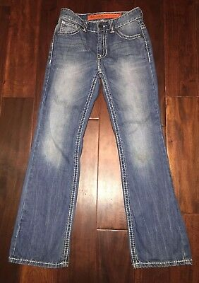 Boy's Rock & Roll Cowboy Denim Size 14 Regular Fit Boot Cut Jeans
