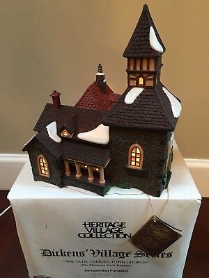 "Dept 56 Dickens Christmas Village ""The Olde Camden Town Church"" Building - Boxed"