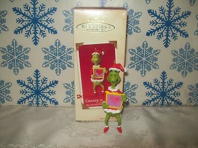Hallmark The Grinch Change Of Heart 2002 Dr Seuss Christmas Keepsake Ornaments