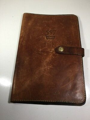 Vintage Hand Made Holland Sport Leather Levi's 557 Notebook Note Pad  Holder