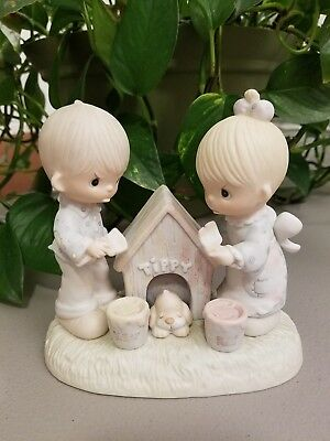 """Precious Moments """"bless This House"""" E-7164 Extremely Rare & Huge Piece/bv$275"""