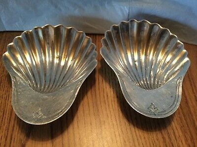Rare Antique Pair Of Howard & Co. Sterling Silver Shell Dishes. Approx.175.4