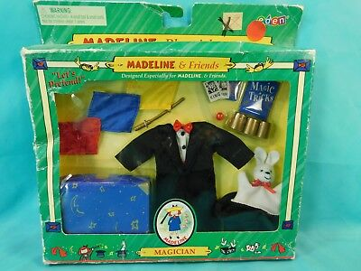 "2000 Madeline Friends Magician Doll 9"" Adventure Fashion Access Eden NRFP"