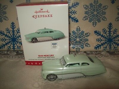 Hallmark 1949 Mercury #2 Keepsake Customs Series 2016 Christmas Ornaments Car