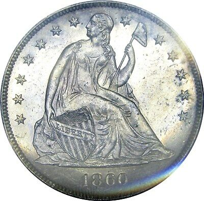 1860-O Seated Liberty Dollar      +++ Certified Pcgs Uncirculated +++     Detail