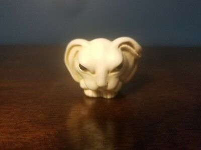 Hand Carved Japanese Boxwood Netsuke White Rabbit Hare Small Ring Size Dish