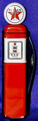Franklin Mint OFFICIAL TEXACO (RED GAS PUMP) ~1998 folding knife - NM/M
