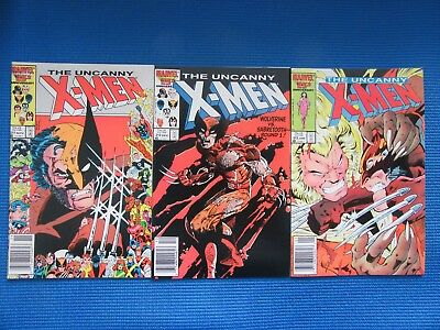 Uncanny X-Men # 211,212,213  - (Nm) - Wolverine Vs Sabre-Tooth - High Grade