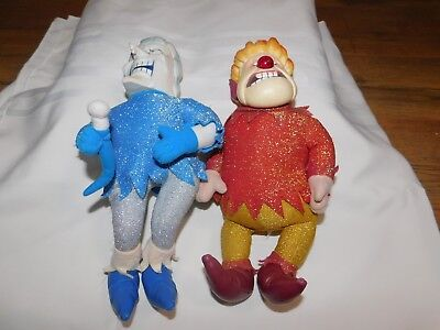 """ADORABLE Year Without a Santa Claus Heat Miser Cold Miser Dolls 13"""""""