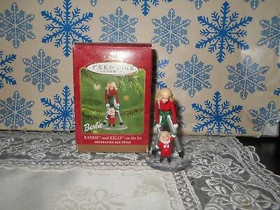 Hallmark Barbie And Kelly On The Ice 2001 Christmas Keepsake Ornaments Skating