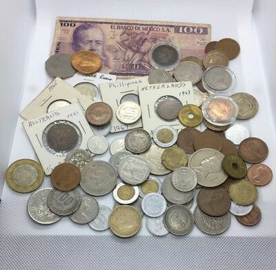 World Coins Lot, Oldest is 1893. Some Silver