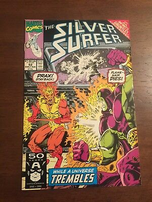 Marvel Comics - Comic Book - Silver Surfer #52 Infinity Gauntlet Crossover
