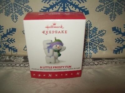 Hallmark A Little Frosty Fun 2016 Christmas Keepsake Ornaments Decade Snowman