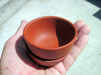 Vintage Antique? (2) OMG Signed  Oriental Red Clay Cups