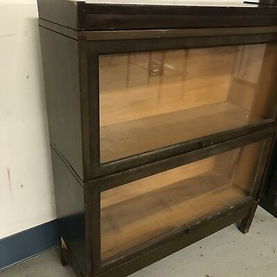 Vintage Macy 2 Stacking Lawyers Bookcase #713