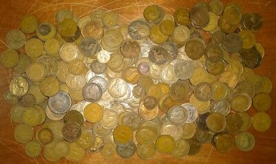Large Lot Of 5 1/2 Pounds British Copper All Dated Pre-1940 !!!