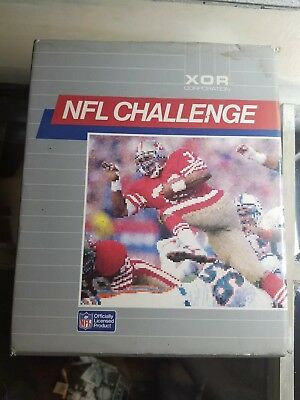 "Rare NFL Simulation game ""NFL CHALLENGE"" by XOR Corporation for PC"
