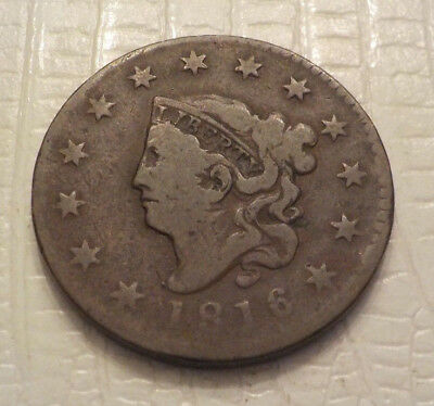 1816 Coronet Head Large Cent old US coin No Reserve