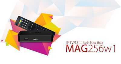 Infomir Mag 256 w1 IPTV/OTT Set-Top Box WiFi 2.4Ghz Built-in HDMI Streamer New