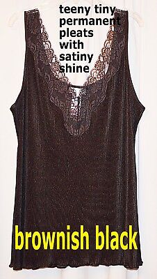 """Ladies L camisole """"Vanity Fair"""" bust:42"""" black muted lace cami intimate Upscale"""