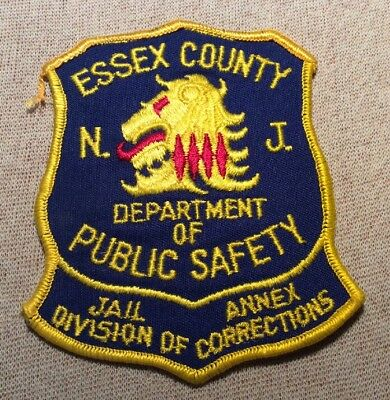 NJ Vintage Essex County New Jersey Jail Division of Corrections Patch