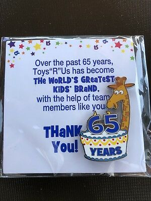 Toys R Us 65 year anniversary pin / Thank You Cake