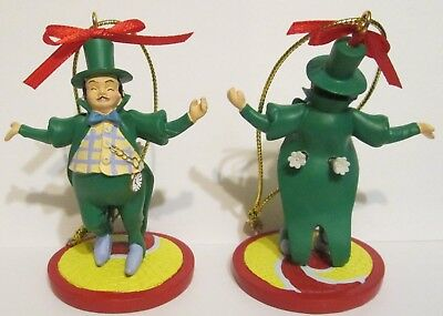 2000 Enesco Wizard of Oz Mayor Of Munchkinland Artesian Ornament w/Yellow Brick