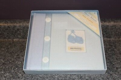 New In Box: Blue Photo Album/baby Book- 50 Pages For 100 Photos W/caption Lines