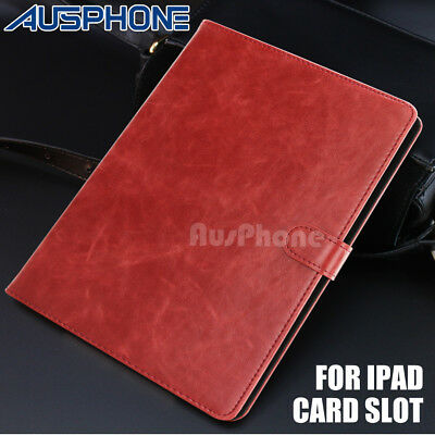 iPad 3 4 5 6 Air Mini Smart PU Leather Wallet Stand Case Cover for Apple