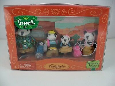 Furryville The Pandafords on Vacation NEW in Package Mattel H2302