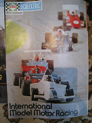 vintage scalextric set approx 1974