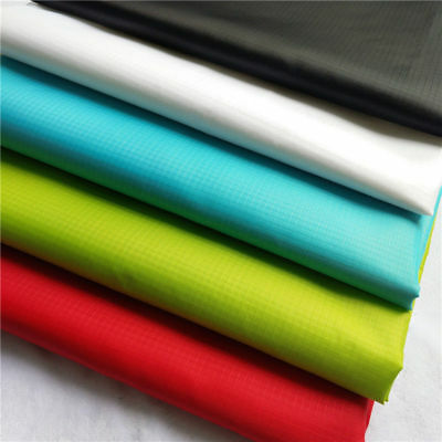 Outdoor Ripstop Waterproof Fabric PU Coated Polyester Material 150cm Yard