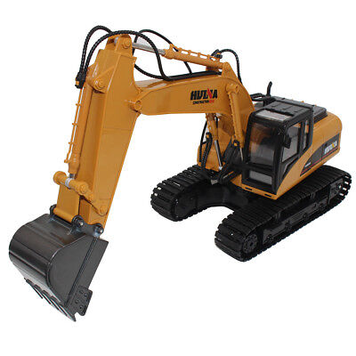 2.4G 15 Ch Remote Control Excavator RC Construction Tractor Vehicle Toys Digger