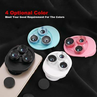 Fish Eye 198° Wide Angle Macro Clip-on Lens Camera For Universal Mobile Phone