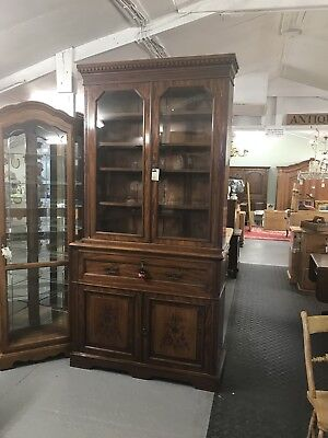 Antique Secretaire Bookcase Cabinet With Desk Sn-04