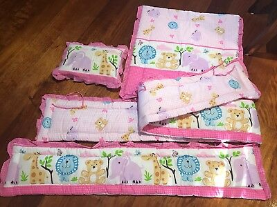 5 set! Cot QUILTED bumper sheet - Incl Pillow Bolster cover and blanket