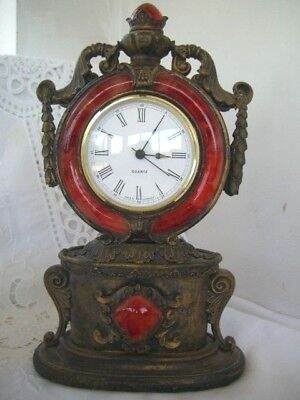 Ormulu Style  Mantle Clock Working Order (Had New Quartz Movement)