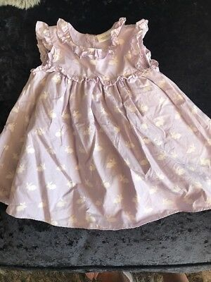 NEXT Beautiful Lilac Rabbit Dress3-6 Months