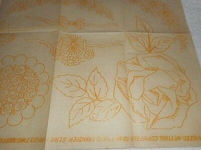 Vintage Embroidery Iron on Transfer - Weldons No.17192   - Flowers / Bows