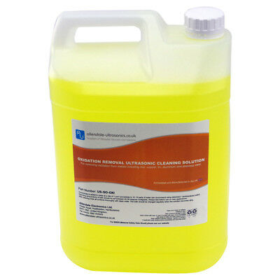 Oxidation and Rust Removal Ultrasonic Cleaner Fluid Solution 5L Made in the UK