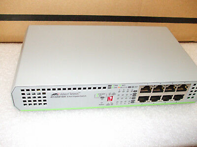 ALLIED TELESIS INC. AT-GS910/8-10 8-PORT 10/100/1000T gigabit SWITCH hub