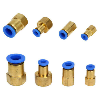 New Pneumatic Female Thread BSP Stud to Push In Fitting Connector For Air Water